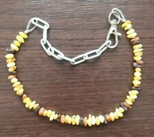 Raw Natural Baltic Amber necklace collar for dog cat pet anti flea 30 - 40 cm