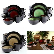 16-Piece Dinnerware Set in 3 Colors Bowl Cup Plate Serving Dishes Kitchenware