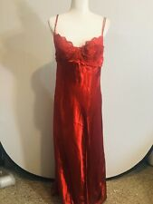 Vintage intimate attitudes sexy red nightgown underwire lace adjustable straps
