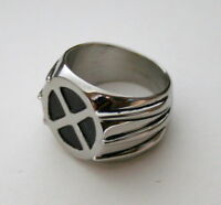 Marvel Comics Wolverine X-Men Logo Claws Stainless Steel Ring New NOS Box Sz 10