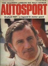 AUTOSPORT dicembre 4th 1975 * GRAHAM HILL & Tony BRISE ucciso