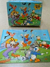 Vintage Walt Disney Goofy Pro Caddy 60 Piece Jig Saw Puzzle