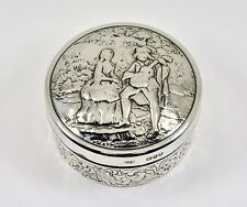 Antique English Victorian Solid Silver Snuff Box, (John Henry Rawlings, 1896)