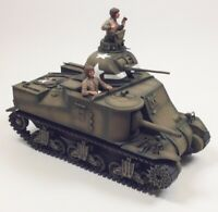 WWII US Army M3 Lee Tank Built-Up 1/35 Scale Plastic Model Kit with Two Figures