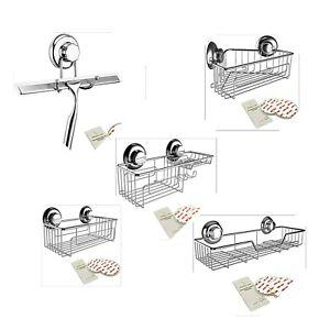 Gecko-Loc Suction Cup Shower Caddy Bath Organizer - Bathroom Storage Baskets