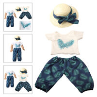 18 inch Doll Clothes for American 18 inch Doll T-shirt + Trousers + Sun Hat