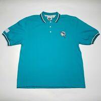 Vintage Florida Marlins Deadstock Short Sleeve Casual Polo Shirt Men's Large