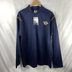 Nashville Predators Mens NHL Brand 1/4-Zip Pullover Jacket X Large NWT