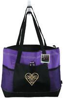 Celtic Knot Heart Monogram Bag Purple Gemline Zipper Tote St. Patrick's Day Gift