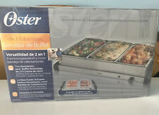 Oster Stainless Steel Triple Station Electric Buffet Server Food Warmer