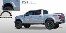 BLACK Sand Blast Textured Extension Style Fender Flares 2015 - 2018 Ford F-150