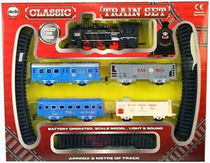 A TO Z CLASSIC BATTERY OPERATED TRAIN SET WITH LIGHT AND SOUND