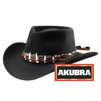 Genuine Akubra The Croc Black Hat - Made in Australia