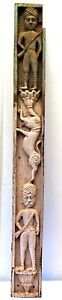 WOODEN PANEL ELEPHANT SOLDIER NEO CLASSICAL POLYCHROME HAND CRAFTED VINTAGE