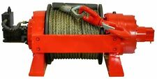 Hydraulic Winch - 29,700 LBS Cap - 13.5 Tons - Air & Manual Clutch - Commercial