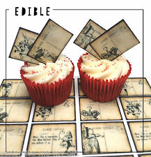 16 Alice in Wonderland Edible PostCards Cupcake Toppers | Cake | decorations