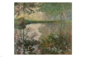 Pond At Montgeron CLAUDE MONET Fine Art Poster 24X36 FRENCH IMPRESSIONIST