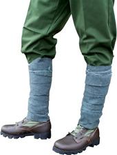 Pair WWII Swiss Military Gray Wool Leg Wraps Warmers Puttee Snow