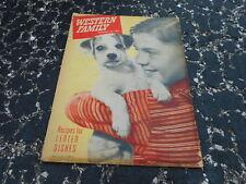 FEB 20 1947 WESTERN FAMILY magazine Little Boy w/DOG