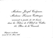 CARTON INVITATION MMES JOSEPH TORDJMAN & FRANCOIS TAITTINGER HOTEL CRILLON 1989