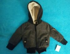 Urban Republic Jacket Baby Boys Gray 18 Months Faux Fur Lined Hooded NWT