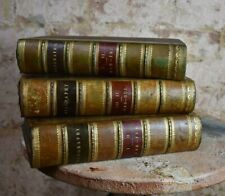 Antique 1886 Biography Half Leather Binding Three Volumes