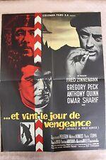 Zinnemann ( Fred ) Et vint le jour de vengeance affiche de cinéma pliée 60x80