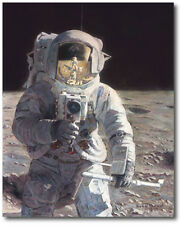 Pete and Me A/P Limited Edition Canvas by Alan Bean - Moon - Space Art - Moon