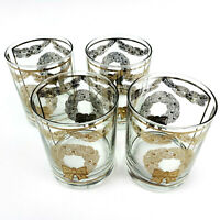 Georges Briard Wreath Glasses Double Old Fashioned Glasses Mid Century Modern