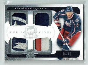 11-12 UD Upper Deck The Cup Foundations  Rick Nash  /10  Quad Patches