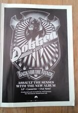 DOKKEN Back For The Attack 1987 magazine ADVERT/Poster/clipping 11x8 inches