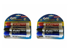 2 Pack Of 6 Expo Dry Erase Markers Chisel Tip Low Odor Ink Red Black Blue
