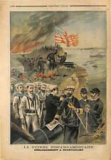Spanish American War Landing Guantanamo Bay CUBA 1898