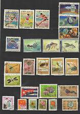 années 70 Viêt Nam un lot de timbres oblitérés  / T1694