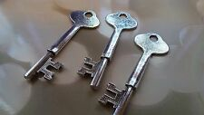 2 Skeleton Key Pendants Stamping Blanks Antiqued Silver 64mm Large Keys