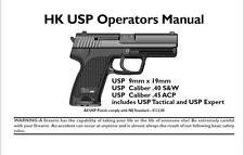 Heckler & Koch USP Operator's Manual Gun Guide H&K 9mm .45 S&W Tactical Expert