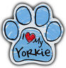 Scribble Paw Dog Magnets: I LOVE MY YORKIE YORKSHIRE TERRIER | For Cars, More