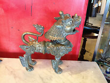 RARE Antique Chinese / Tibetan Bronze Beast Aquamanile / Censer Incense Burner