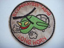 "Vietnam War US B Company 228th ASHB ""LONG HORN"" Hand Sewn Patch"