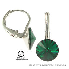 earrings with Swarovski Elements, colour: Emerald, Green