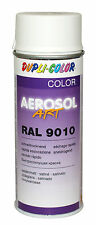 6x dupli COLOR RAL 9010 BLANCO PURO LATA DE SPRAY PINTURA SEDA MATE