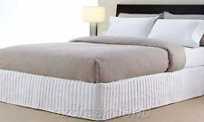 Queen Bed QB Size Ardor Boudoir Classic Quilted Valance - White