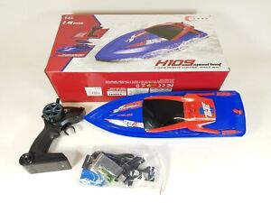 RC Boats for Kids Adult 35KM/H High Speed Racing Boat 2 Channels Remote Control