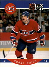 1990-91 PRO SET HOCKEY BOBBY SMITH CARD #160 MONTREAL CANADIENS NMT/MT-MINT
