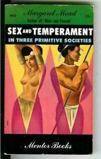 SEX AND TEMPERMENT Margaret Mead, rare US Mentor sex study gga pulp vintage pb