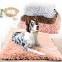 Soft Grey Plush Dog Bed Pet Cat Calming Bed Warm Sofa for Kennel Crates Cushion