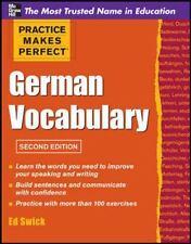 Practice Makes Perfect: Practice Makes Perfect German Vocabulary by Ed Swick (2…