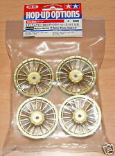 TAMIYA 84153 medium-narrow 18-spoke ruote (oro / ± 0) (TA05 / TA06 / TB03 / TB04), NIP