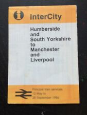 InterCity Train Services 1986 Humberside York Manchester Liverpool Timetable