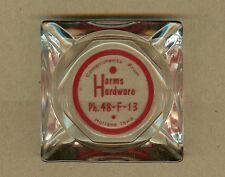 Vintage Harms Hardware, HOLLAND, Iowa IA ASHTRAY